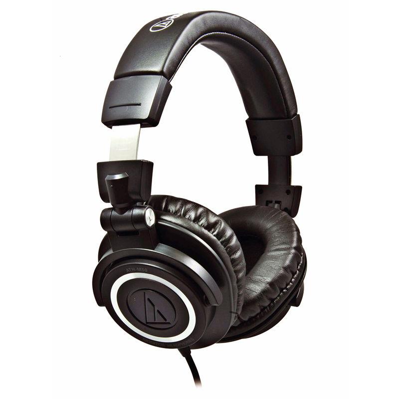 铁三角 专业录音监听耳机 ath-m50 bk